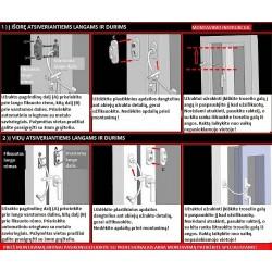 Papildomo lango ribotuvo su spynele Penkid montavimo instrukcija