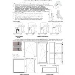 Papildomo lango užrakto montavimo instrukcija