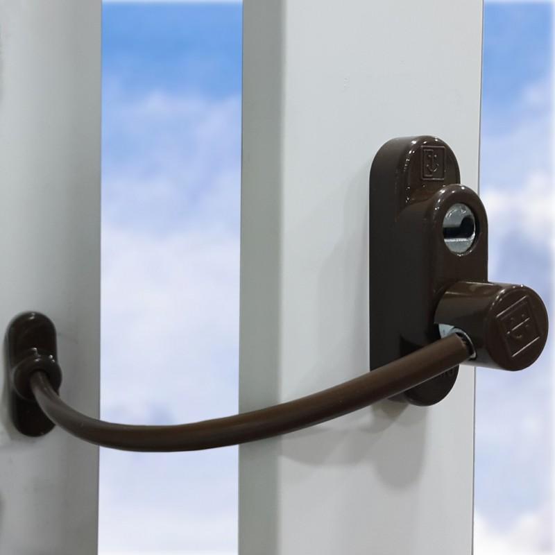 Loga blokators ar atslēgu (brūns)