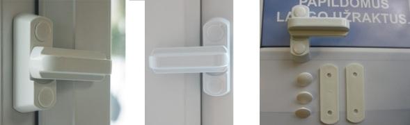Langų apsaugos, langų užraktai, langų ribotuvai